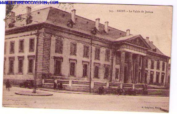 Reims le palais de justice carte postale marne champagne - Carte de visite reims ...