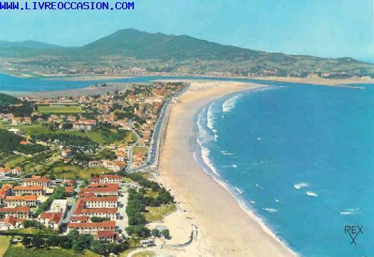 HENDAYE (B.P.) La plage Au fond la BIDASSOA et l'Espagne   carte