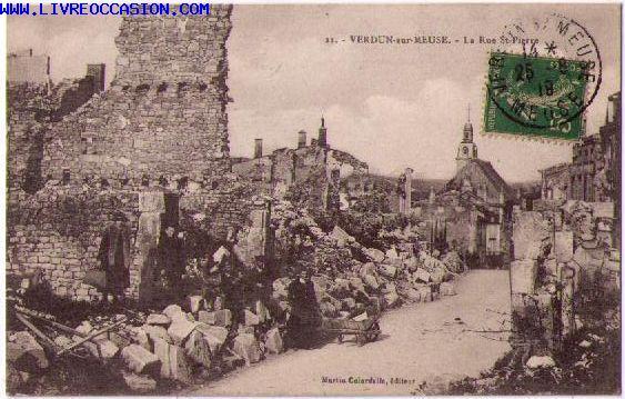 Verdun sur meuse la rue st pierre carte postale meuse for Porte carte postale sur pied