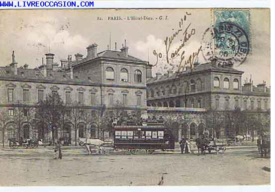 Paris l 39 hotel dieu carte postale paris for Carte hotel france