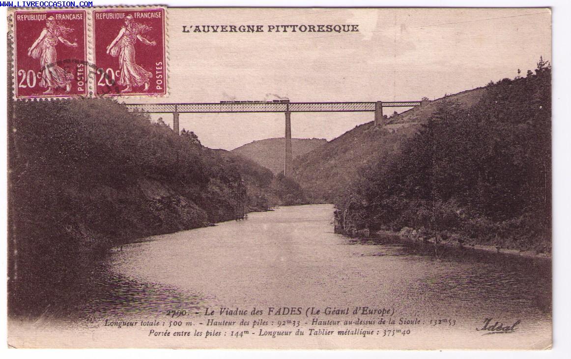 Viaduc de FADES carte postale