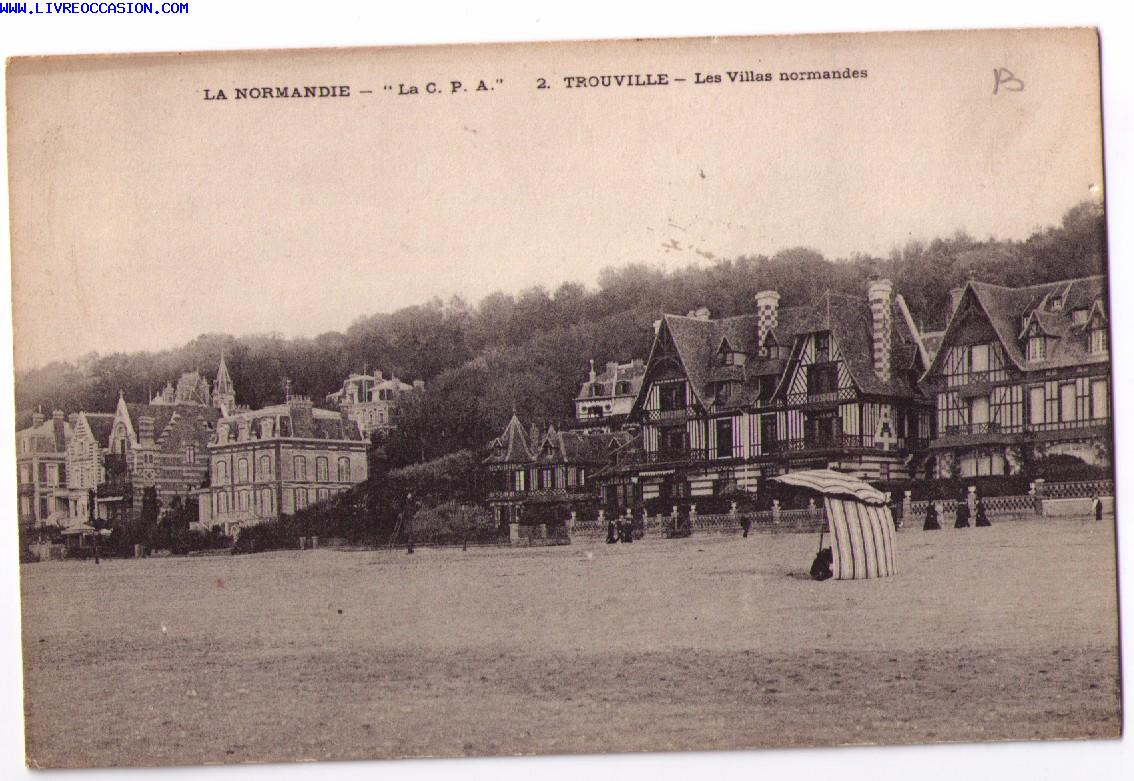 La normandie trouville les villas normandes carte for Porte carte postale sur pied
