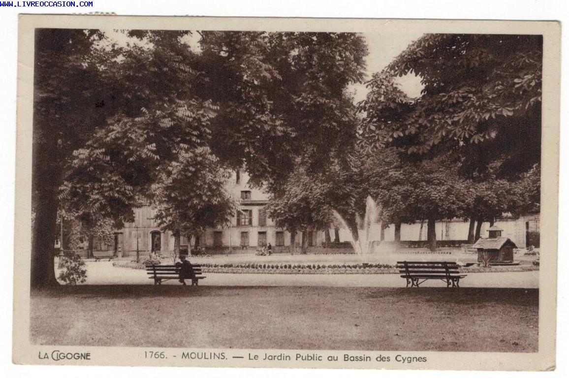 LOULINS - Le Jardin public au Bassin des Cygnes - carte postale Allier