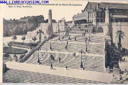 Marseille escalier monumental de la gare st charles for Escalier helicoidale marseille